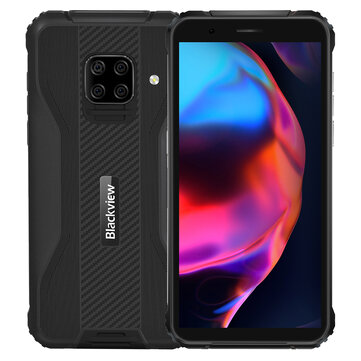 Blackview BV5100 Global Bands IP68&IP69K 5.7 inch HD+ 4GB 128GB NFC Android 10 5580mAh Wireless Charging MT6762V Octa Core 4G Smartphone