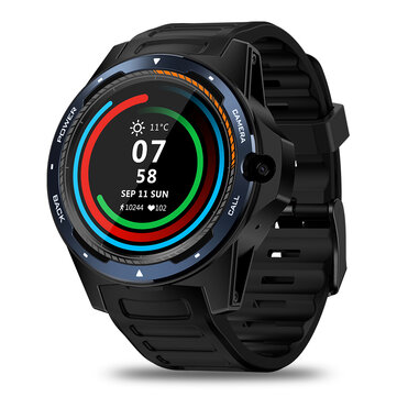 Zeblaze THOR 5 Dual Chipset Technology Global Bands 800w Frontfacing Camera 2GB/16GB WIFI GPS 1.39' AMOLED Smart Watch Phone Black