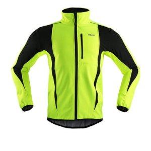Αποθήκη Κίνας   ARSUXEO Winter Cycling Clothing High Collar Warm Jackets Thermal Fleece Bicycle MTB Road Bike Clothing Windproof Waterproof Long Jersey