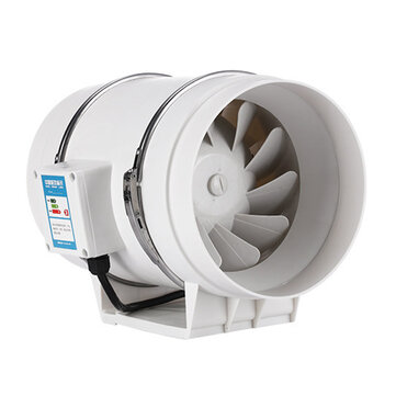 8inch 130w silent fan extractor duct hydroponic inline exhaust industrial vent