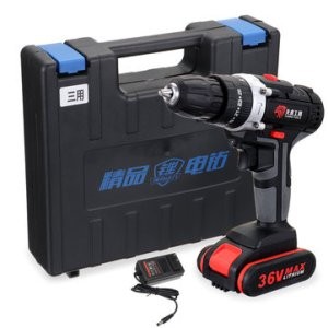 100-240V Electric Cordless Drill Screwdriver Double Speed Adjustment LED with Li-ion Battery Set