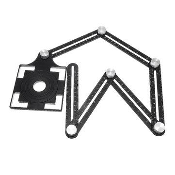 adjustable 6 fold tool angle ruler ceramic tile hole locator set 25 40 45 55 75mm drill guide openings locator set