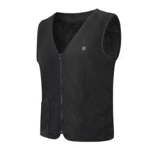 Αποθήκη Κίνας   45-65°C Electric Heated Waistcoat Vest Winter USB Sleeveless Heating Jacket Black