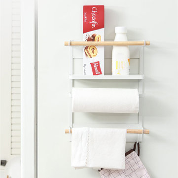 magnetic refrigerator fridge sidewall paper towel holder storage rack shelf kitchen organizer