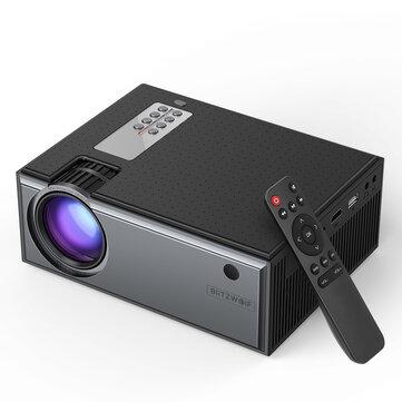 Ευρωπαϊκή αποθήκη | Blitzwolf® BW-VP1 LCD Projector 2800 Lumens Support 1080P Input Multiple Ports Portable Smart Home Theater Projector With Remote Control – EU