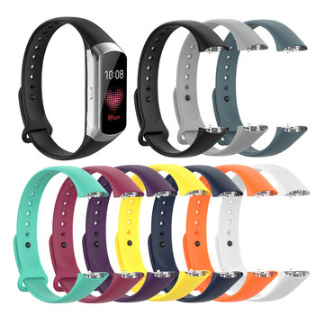 Bakeey Pure Soft Silicone Smart Bracelet Watch Band Strap Replacement for Samsung Galaxy Fit SM-R370