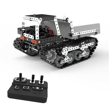 SWRC 007 934PCS 2.4G 10CH Stainless Steel DIY RC Car Dump Truck Construction Model Vehicles