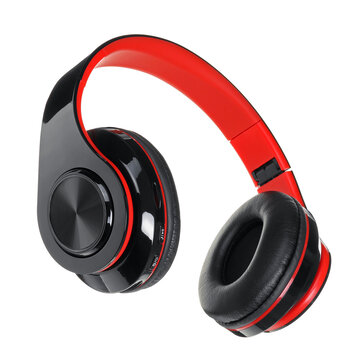 Luminous LED bluetooth 5.0 Headset Foldable Long Capacity Noise Reduction Call Headphone Support FM TF Card