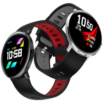 Microwear L10 2.5D Color Screen IP68 Heart Rate ECG O2 Monitor Message Reminder Alipay Milanese Smart Watch