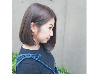 【BAMBINI 国立】ワンカールボブ×パールグレージュ_20170424_1