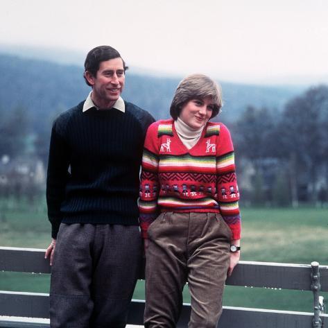 Prince Charles and Lady Diana Spencer at Balmoral May 1981 ...