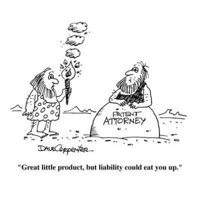 """Great little product, but liability could eat you up."""" - Cartoon' Premium Giclee Print - Dave Carpenter 
