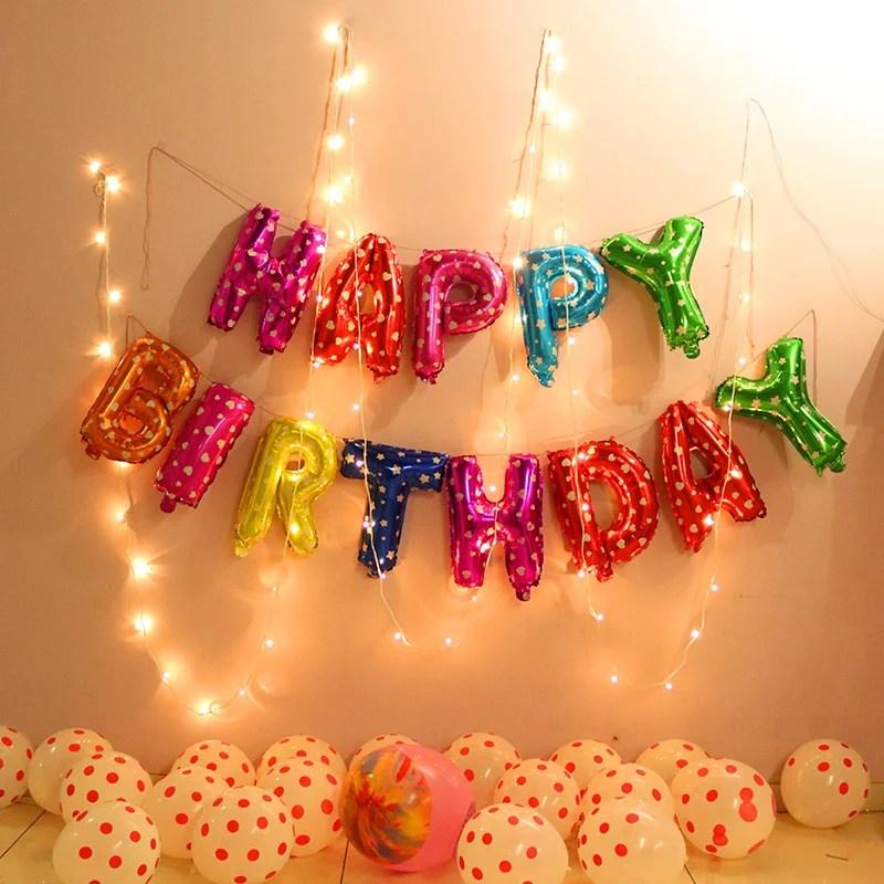 Order Colourful Happy Birthday Balloons Diy Gift Online Price Rs 699 Floweraura