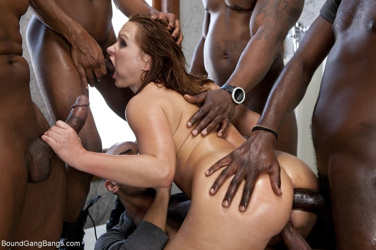 Katja Kassin – Sexy Business Lady gets Overpowered and Gang Banged in a Public Restroom by Big Black Cocks (BoundGangBangs/Kink/2019/HD)