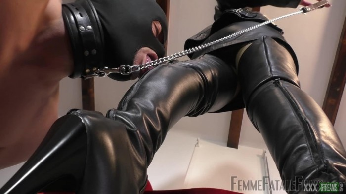 Divine Mistress Heather in Femdom Video – My Lucky Leather Boot Licker