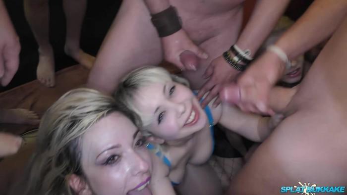 [SplatBukkake] Cherry English – 3x Blonde Bukkake Party (10-08-19) 1080p