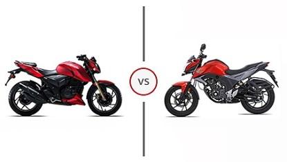 TVS Apache RTR 200 4V vs Honda CB Hornet 160R