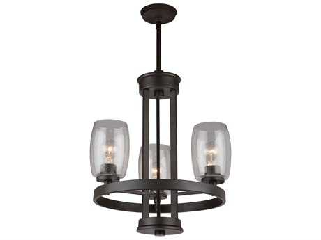 Artcraft Lighting San Antonio Java Brown Three Light 19 Wide Chandelier