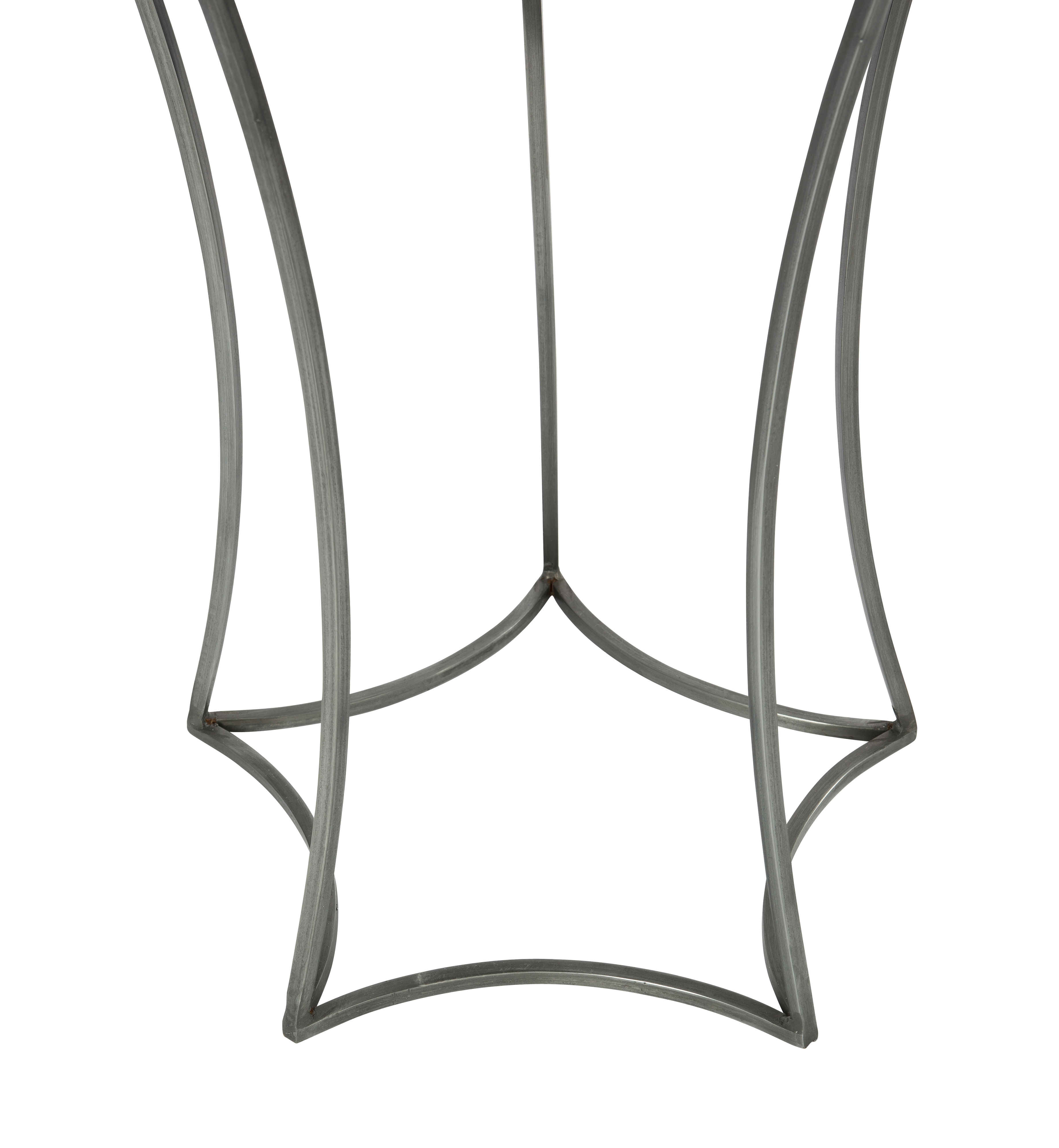 Aidan Gray Astre Steel Mirror 17 Wide Round End Table