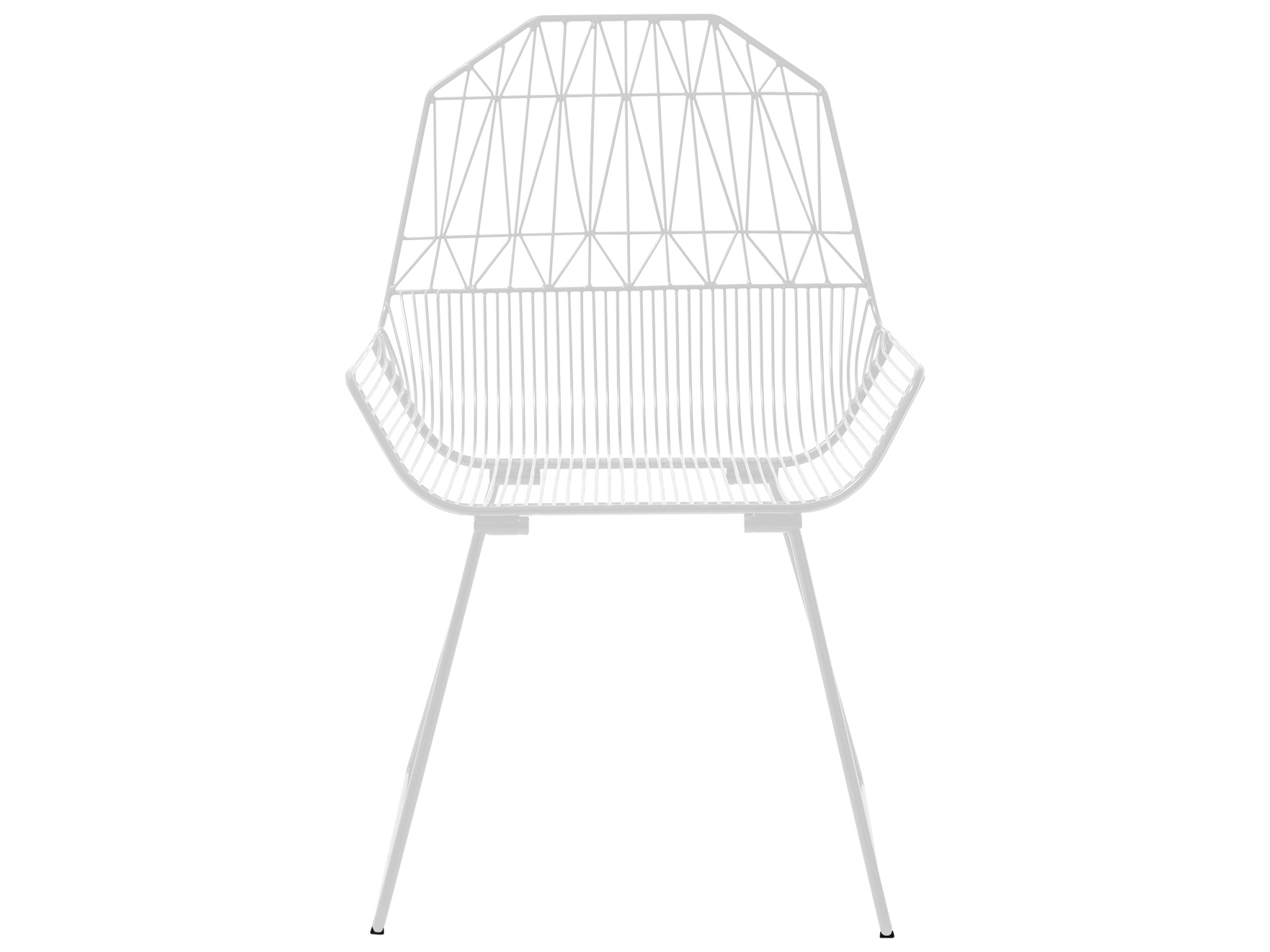Bend Goods Outdoor Farmhouse White Metal Lounge Chair