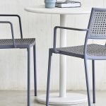 Cane Line Outdoor White 23 Wide Aluminum Round Bistro Table P061aw 5042aw
