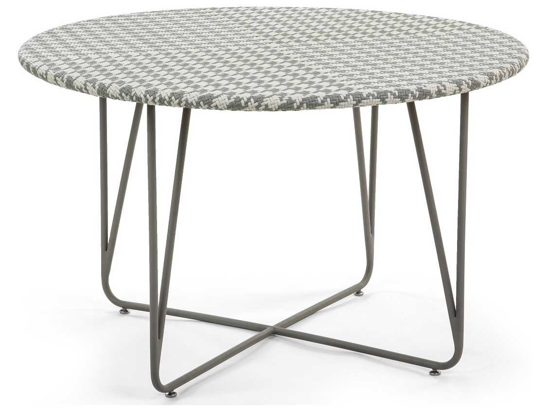 Caluco Encanto Wicker Amp Steel 48 Wide Round Dining Table