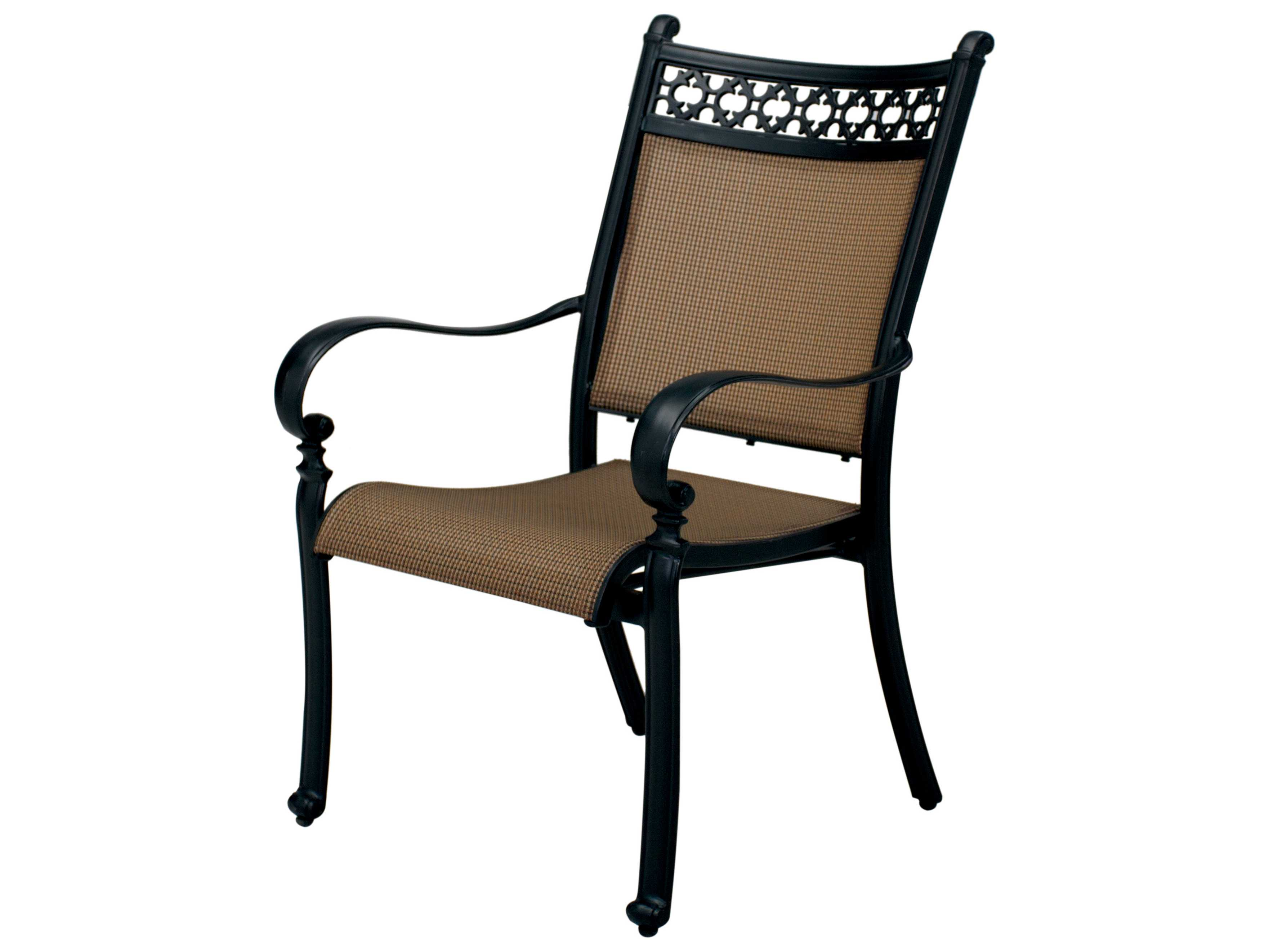 darlee outdoor living mountain view antique bronze cast aluminum sling dining chair