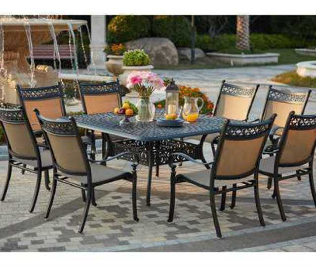 Darlee Outdoor Living Standard Mountain View Cast Aluminum  Piece Dining Set With  Inch