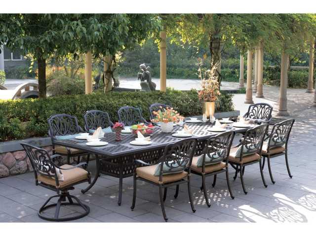 darlee outdoor living series 30 cast aluminum antique bronze 92 x 42