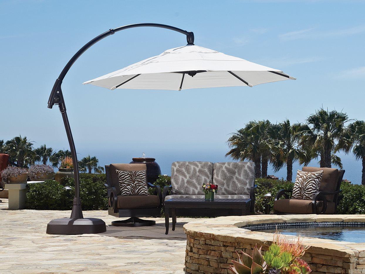 treasure garden cantilever ag28rk aluminum 11 foot octagon crank lift tilt and lock umbrella