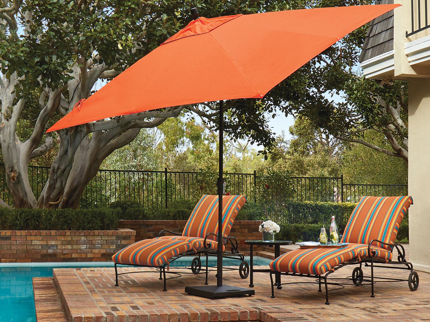 treasure garden market aluminum 8x10 foot rectangular crank lift auto tilt umbrella