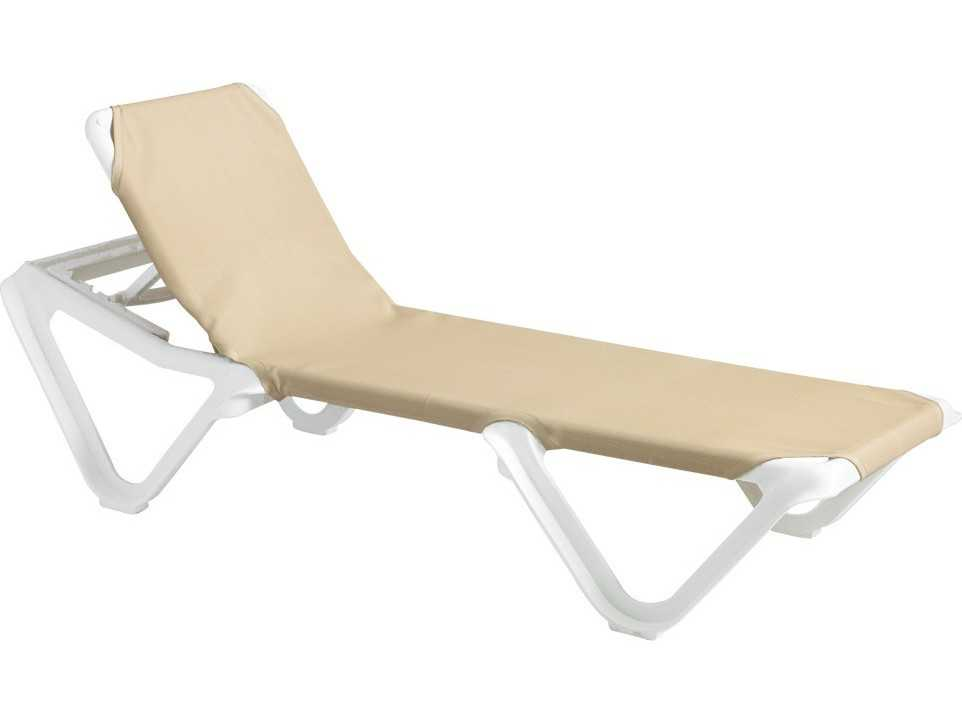 Grosfillex Nautical Sling Adjustable Chaise (Sold In 2