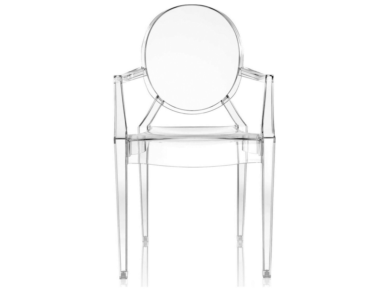 Kartell Louis Ghost Transparent Crystal Dining Arm Chair