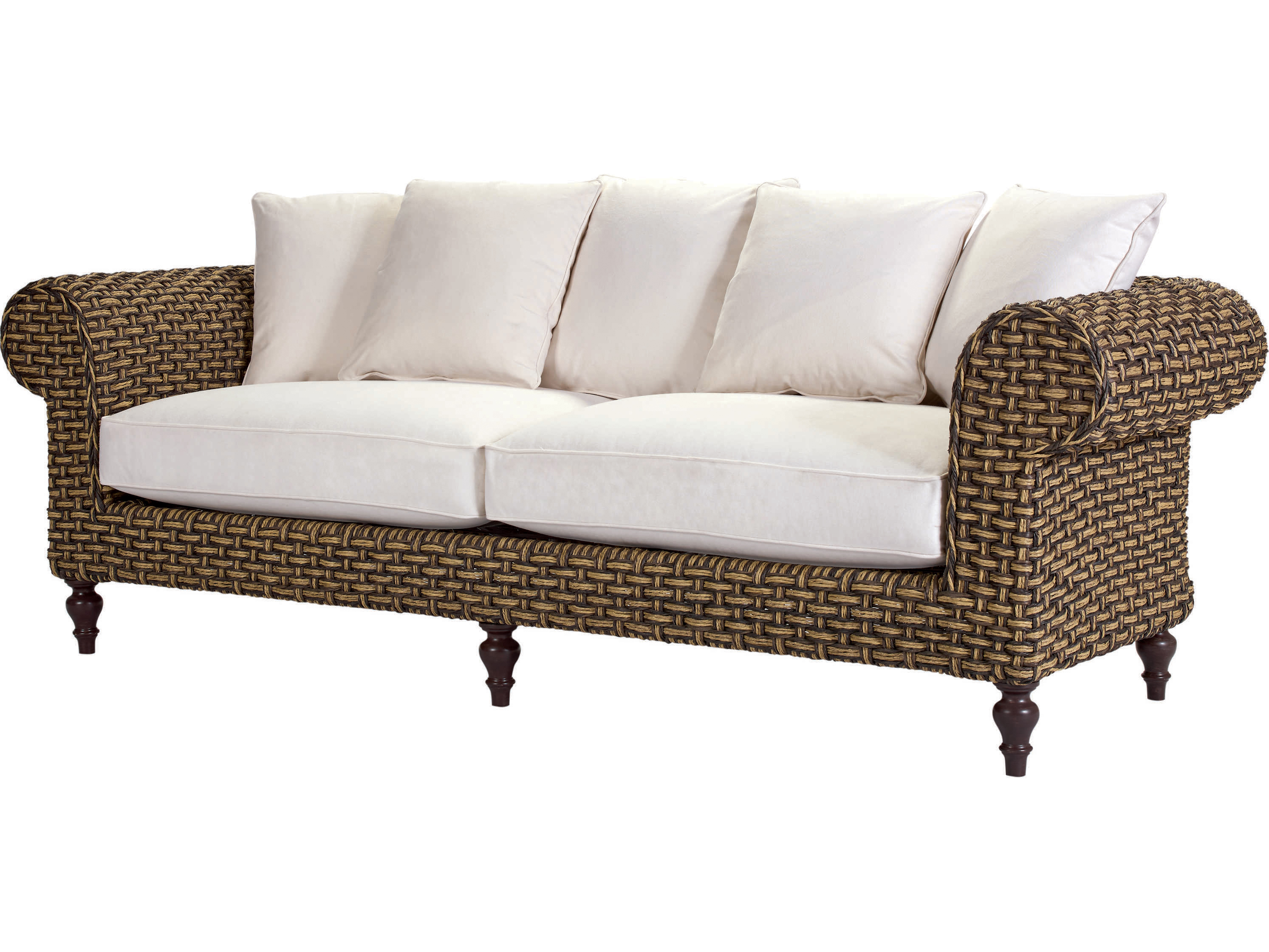 lane venture hemingway rich tobacco wicker chesterfield sofa