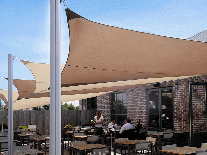 Luxury Umbrellas Ingenua 13 Foot Square Anodized Aluminum