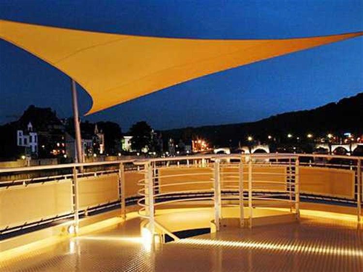 luxury umbrellas ingenua 16 5 triangular anodized aluminum shade sail patio umbrella