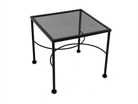 meadowcraft micro mesh wrought iron 20 wide square end table