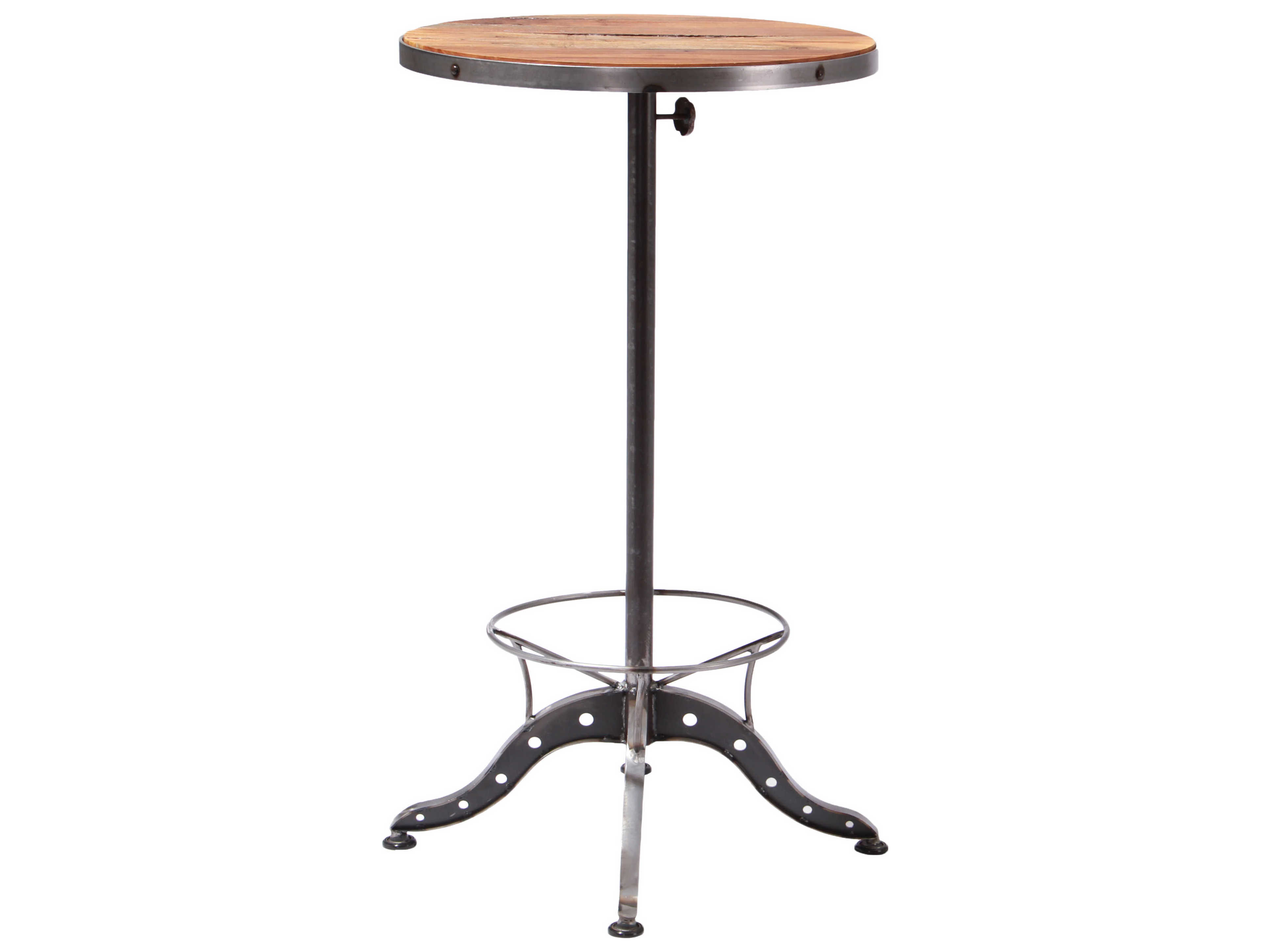 Moe S Home Collection Baxter Brown 23 5 Round Bar Table