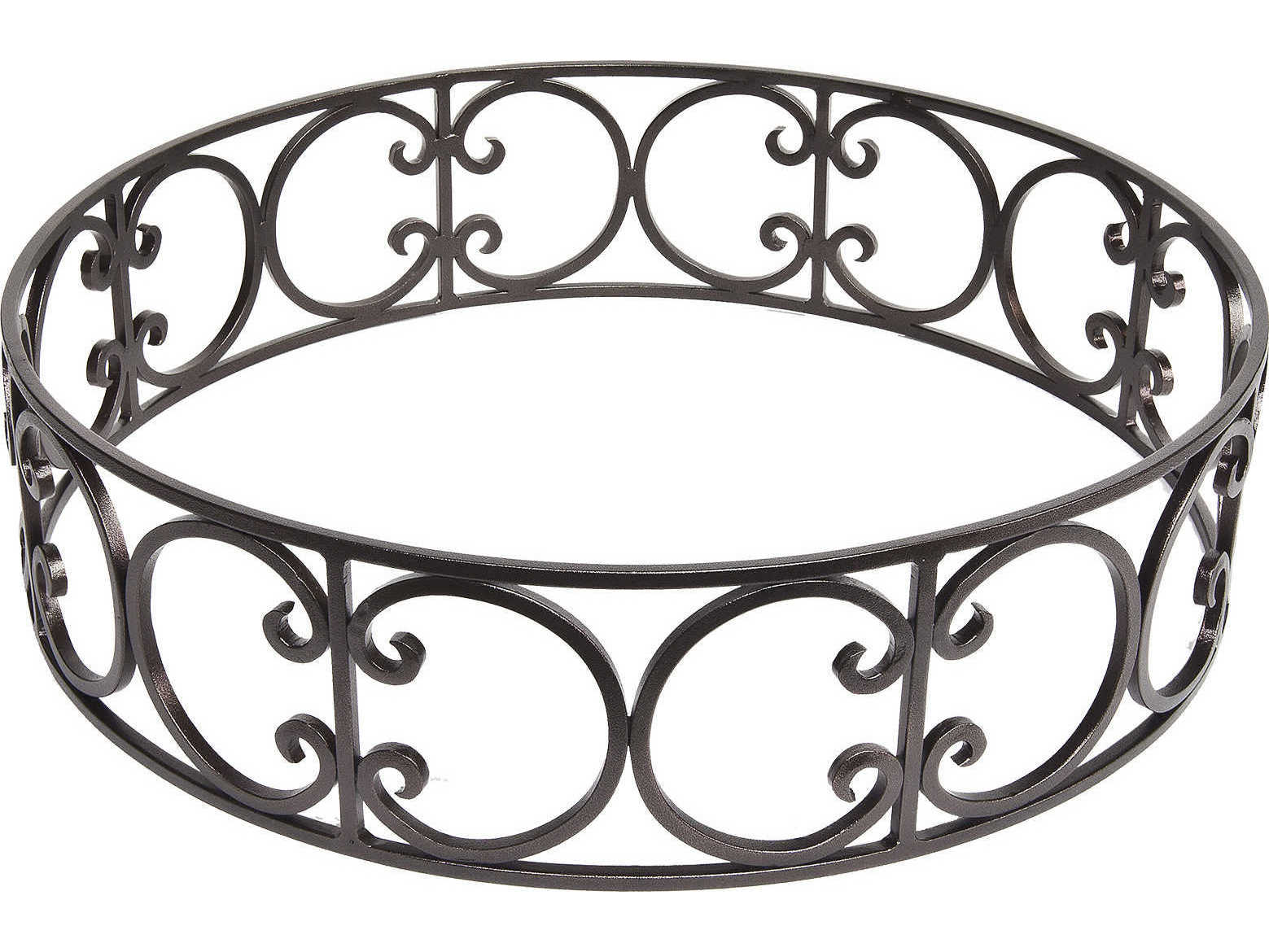 Ow Lee Casual Fireside Wrought Iron Ornate Large Round