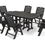 Polywood Nautical Recycled Plastic 7 Piece Dining Set Pwpws1251