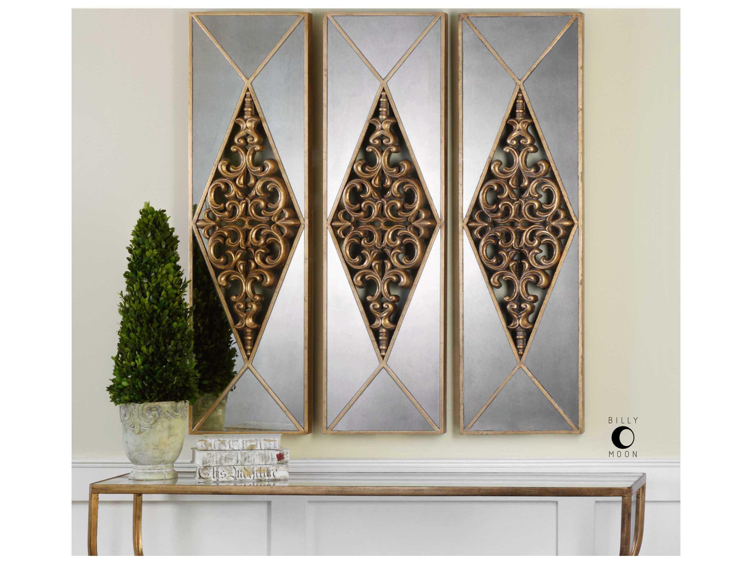 Uttermost Serrano Antique Gold Mirrored Wall Art Ut04065