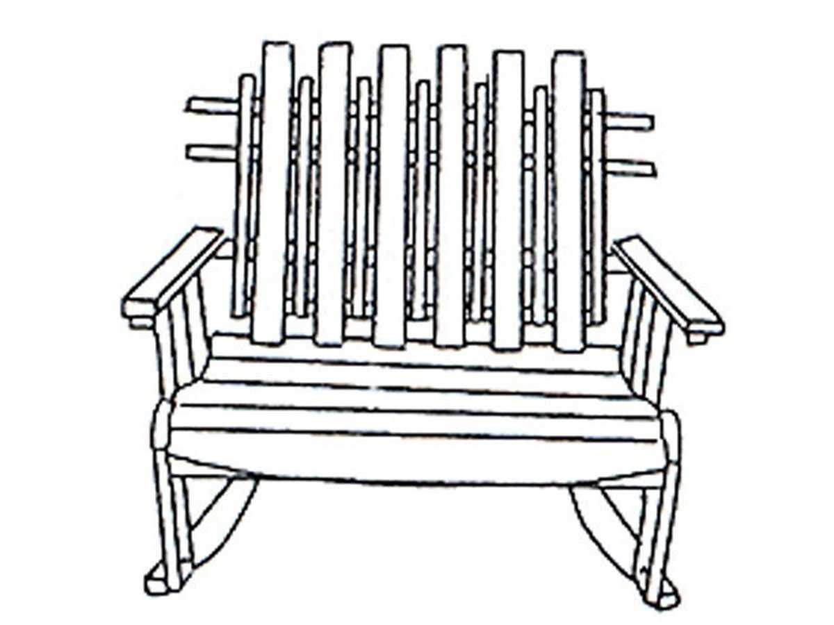 Uwharrie Chair Nantucket Wood Arm Rocker Loveseat