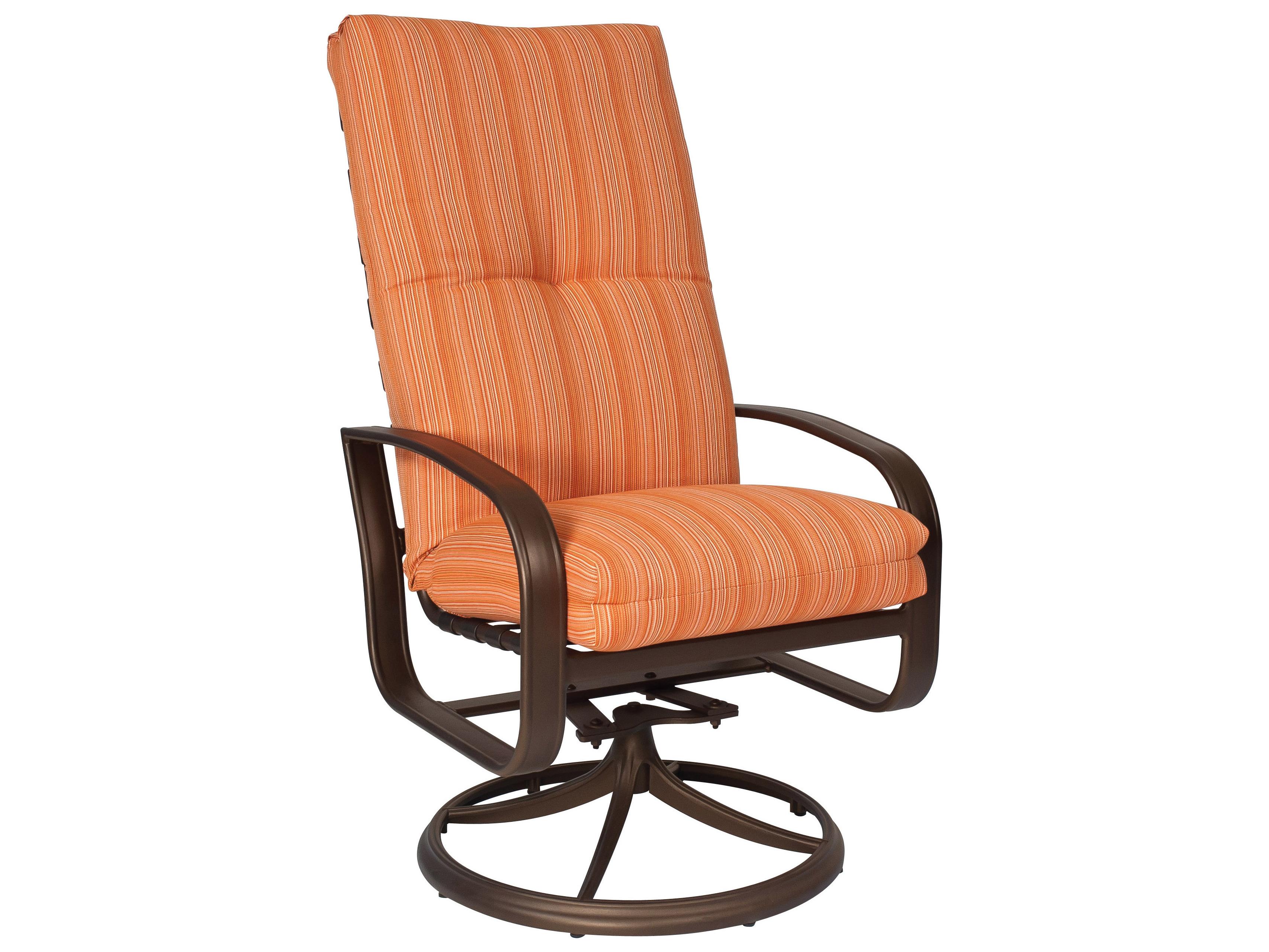 woodard cayman isle high back swivel rocker chair replacement cushions