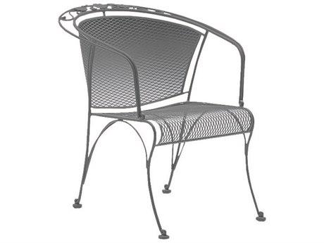 woodard briarwood wrought iron barrel dining arm chair with cushion
