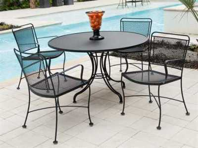 Wrought Iron Patio Furniture   PatioLiving Wrought Iron Dining Sets