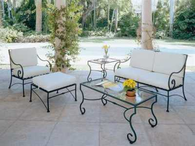 Wrought Iron Patio Furniture   PatioLiving Wrought Iron Lounge Sets