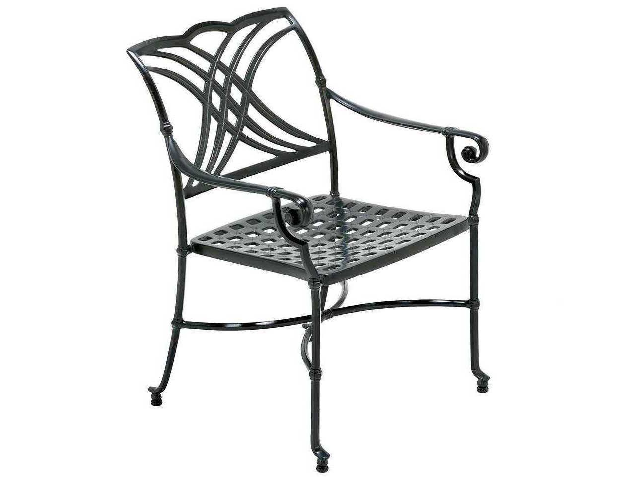 Winston Coronado Cast Aluminum Metal Arm Dining Chair