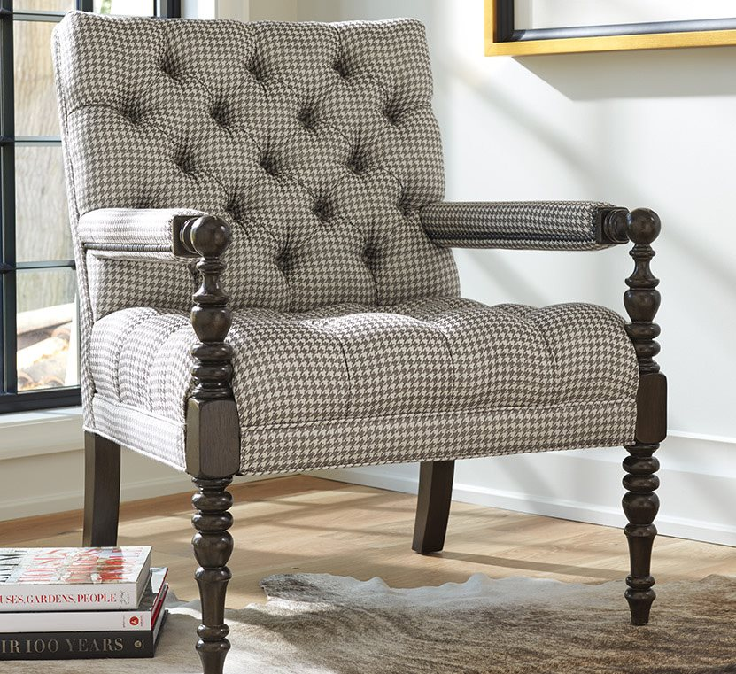 barclay butera belcourt tufted accent chair custom upholstery