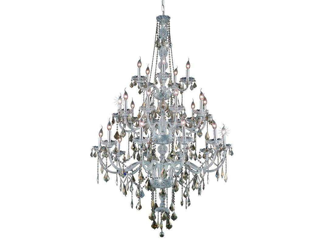 Elegant Lighting Verona Royal Cut Chrome Amp Golden Teak 25