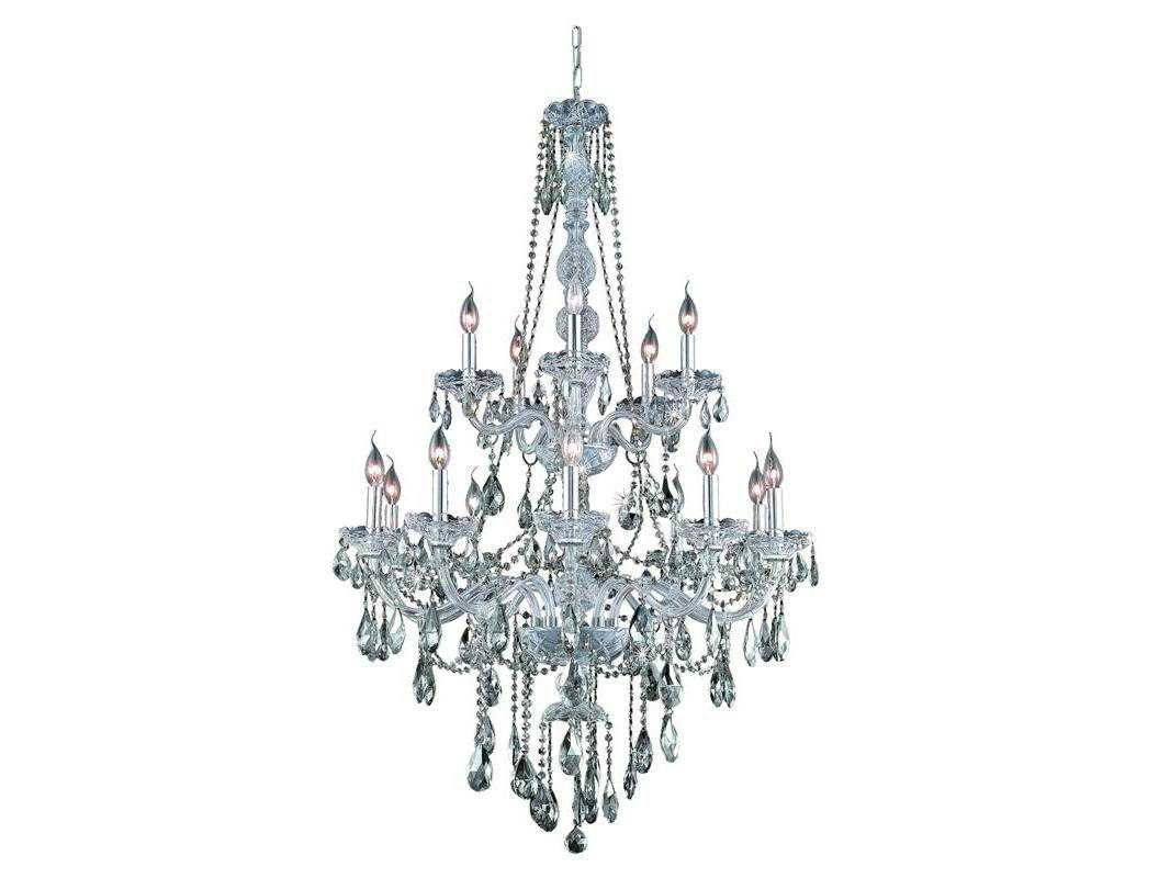 Elegant Lighting Verona Royal Cut Chrome Amp Golden Teak 15